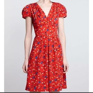 Red Floral Print Dress
